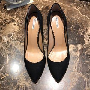 NWOT Black suede Emporio Armani heels